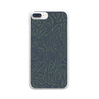 ゼブラ Clear smartphone cases