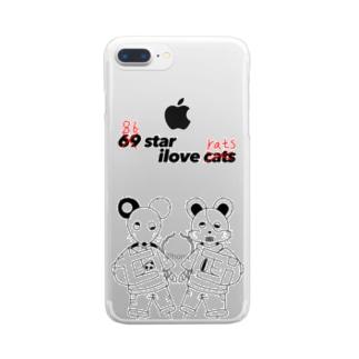 ネズミとハムスター Clear smartphone cases