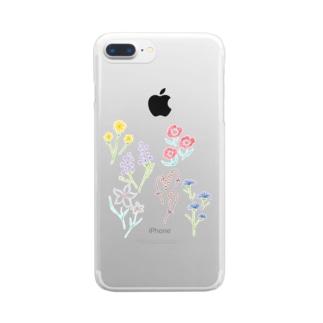 花 Clear smartphone cases