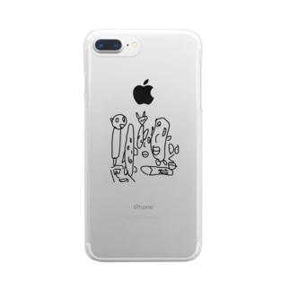 ナヤンデルタール Clear smartphone cases