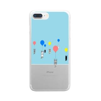 ベタですみません。風船 Clear smartphone cases