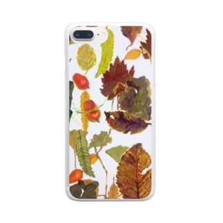 落ち葉 Clear smartphone cases