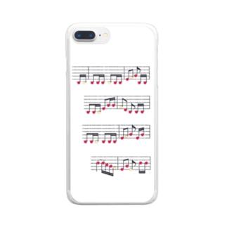 りんごの楽譜 Clear smartphone cases