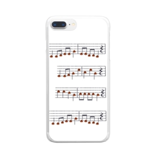 TinyMiry(タイニーミリー)の栗の楽譜 Clear smartphone cases