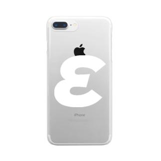 εイプシロン・ギリシャ文字(白) Clear smartphone cases