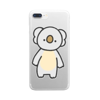 こあら Clear smartphone cases