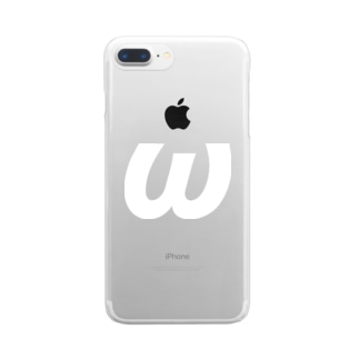ωオメガ・ギリシャ文字(白) Clear smartphone cases