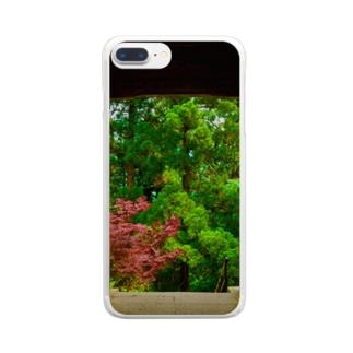 木々と門 Clear smartphone cases