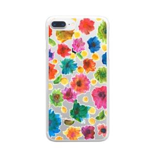 花畑 Clear smartphone cases