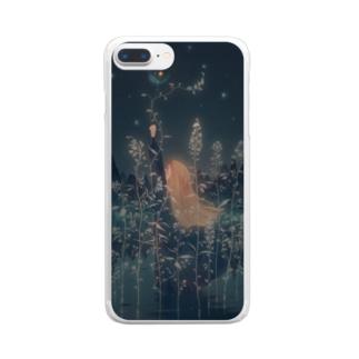 小さな夜を閉じ込めて Clear smartphone cases