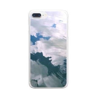 空の水面 Clear smartphone cases