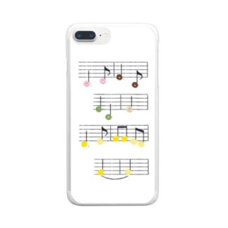 ドーナツとレモンの楽譜 Clear smartphone cases