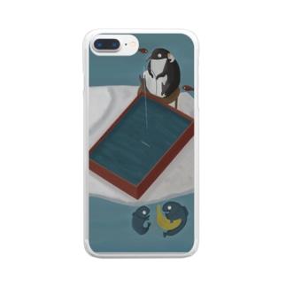 氷の下では Clear smartphone cases