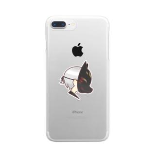 狐面くん Clear smartphone cases