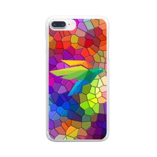 ガラス鳥 Clear smartphone cases