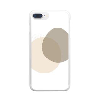 chama.comのベージュラウンド Clear smartphone cases