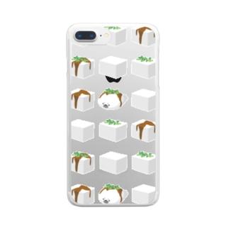 あざらしやっこ Clear smartphone cases