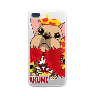 わさイラスト Clear smartphone cases