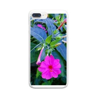 おしろい Clear smartphone cases