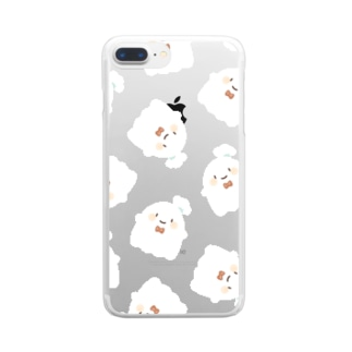 おばけ(まっしろ) Clear smartphone cases