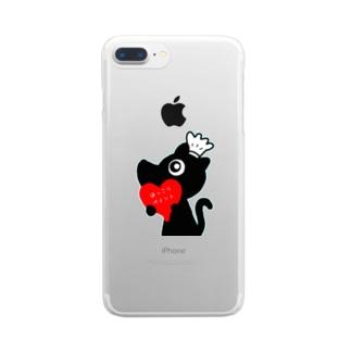 MASAHARU117のMASAHARUほっこりペイント~トランプ君シリーズNo.1 Clear smartphone cases