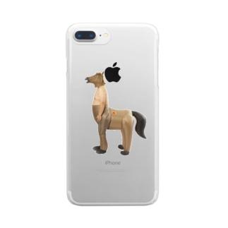 人馬一体 Clear smartphone cases