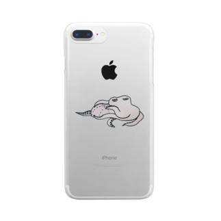 マクラタコ図 Clear smartphone cases