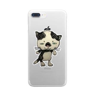 ブネコ1 Clear smartphone cases