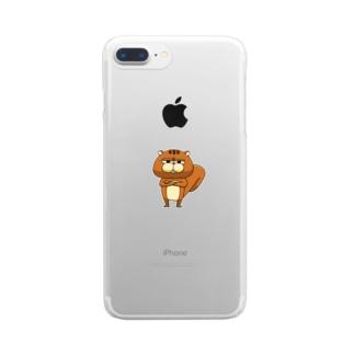 腕組ムーリス Clear smartphone cases