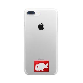 金魚一道オリジナル Clear smartphone cases