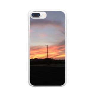夕焼けぞら Clear smartphone cases