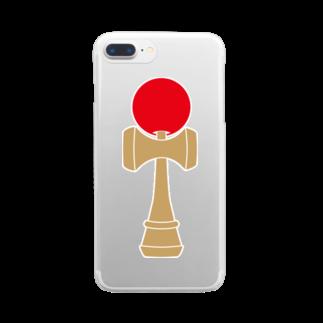 天のお店のけん玉 Clear smartphone cases