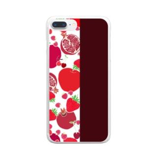 レッドのフルーツ Clear smartphone cases