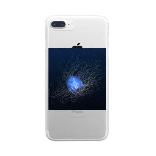 カミクラゲ Clear Smartphone Case