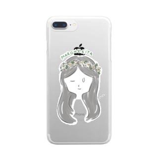 マーガレット Clear Smartphone Case