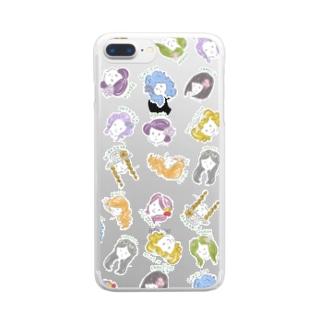 フラワーガール Clear smartphone cases