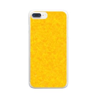 イチョウの紅葉 Clear smartphone cases