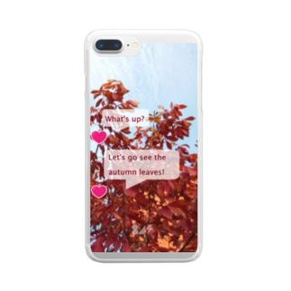 紅葉を見に行こうよう。 Clear smartphone cases