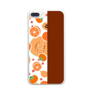 オレンジのフルーツ Clear smartphone cases