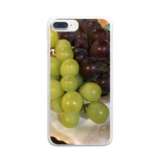 ぶどう Clear smartphone cases
