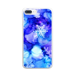 snowflake Clear smartphone cases