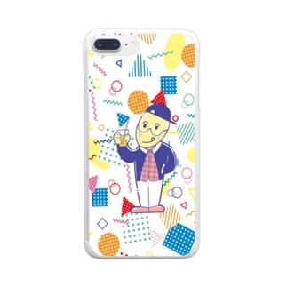 レモンくん 80年代イラスト風 ポップ Clear smartphone cases