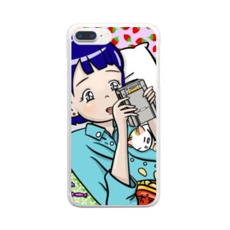 ゲーム女の子 Clear smartphone cases