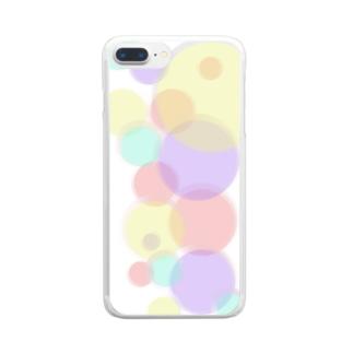 まるまる Clear smartphone cases