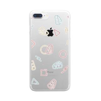 レトロがんづきくん Clear smartphone cases