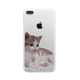ちびねこ Clear smartphone cases