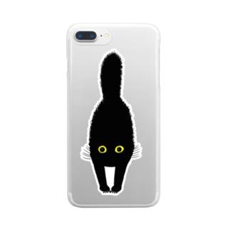 いかくねこその3 Clear smartphone cases