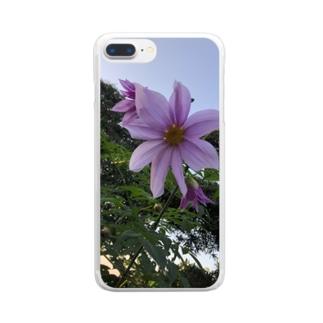 大きな顔 Clear smartphone cases