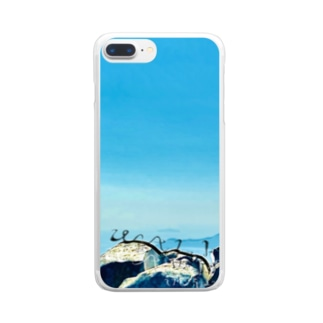 3rd item 〜sky〜 Clear smartphone cases