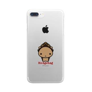 がま口ハリネズミさん Clear smartphone cases